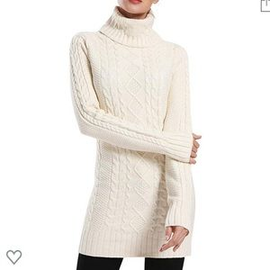 NEW! Turtleneck Cable Knit Sweater Dress